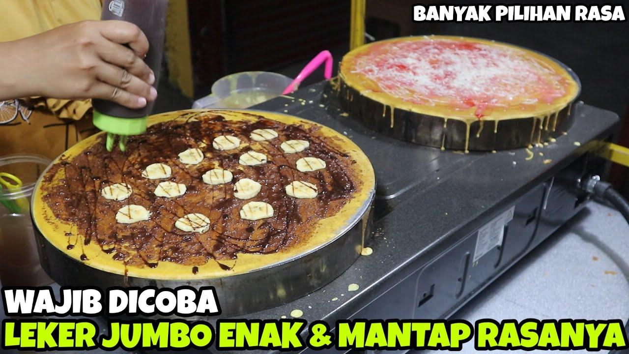 ENAK & MANTAP RASANYA | LEKER JUMBO | BANANA PEANUT CREPE | INDONESIA STREET FOOD #93