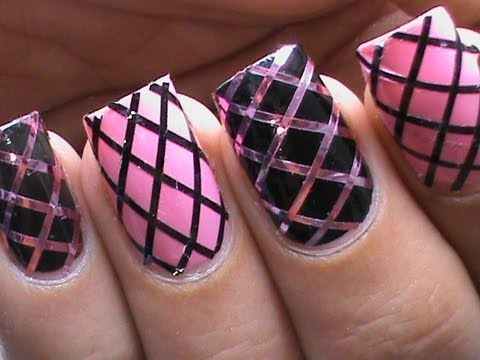 How To Use Striping Tape Easy Nail Designs For Beginners Youtube