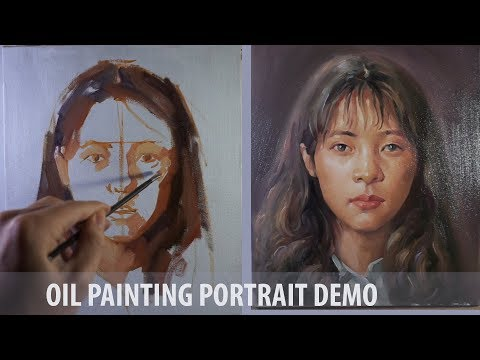 Portrait Painting in Oils - Girl portrait on canvas