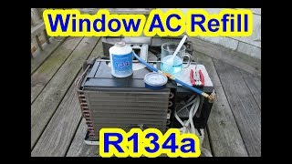 How To Refill Window House AC or Portable Air Conditioner with R134a + Tips + What I