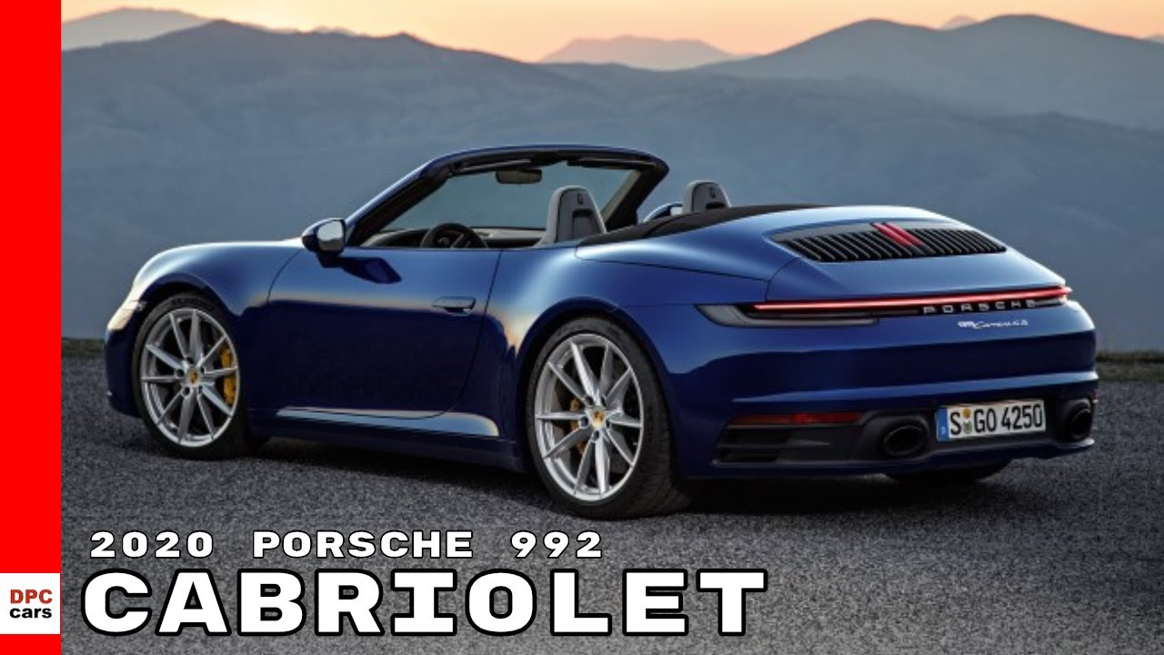 2020 porsche 992 911 cabriolet youtube. Black Bedroom Furniture Sets. Home Design Ideas