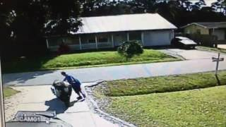Surveillance Video Captures Motorcycle Theft