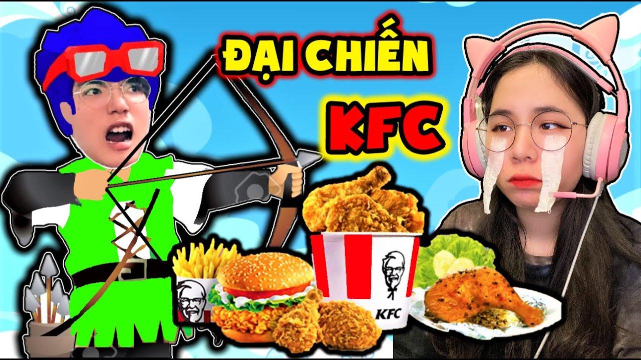 PHONG CẬN THỬ THÁCH ĐẠI CHIẾN GIÀNH ĐÙI GÀ KFC 😋 1 NGÀY SAMMY HÓA THÀNH NHÂN VẬT TRONG MINI WORLD ❤