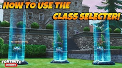 HOW TO USE THE CLASS DESIGNER DEVICE IN Fortnite Creative! Class Selecter And Designer Guide!