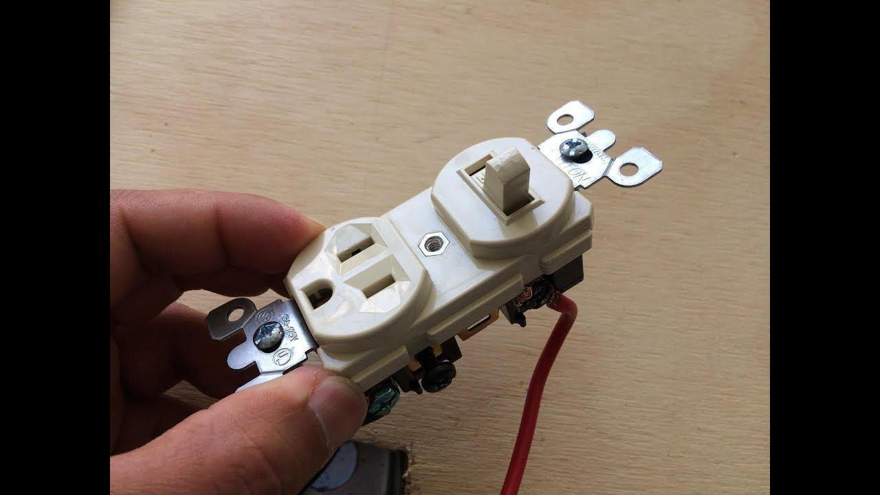 Como conectar un interruptor sencillo que viene con for Como instalar un enchufe