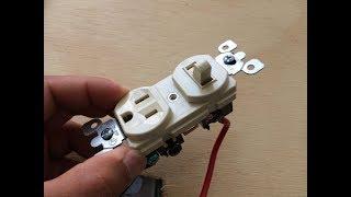 Como conectar un interruptor sencillo que viene con tomacorriente  INSTALACIONES ELECTRICAS