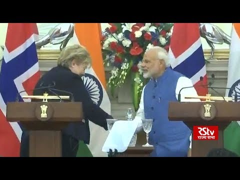 Joint press briefing by PM Modi & Norwegian PM Erna Solberg