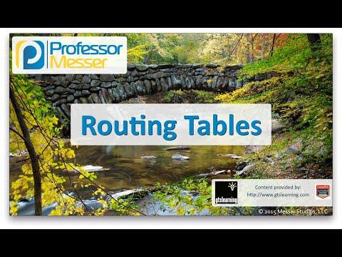 Descargar Video Routing Tables - CompTIA Network+ N10-006 - 1.9