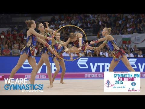2015 Rhythmic Worlds, Stuttgart (GER) - Highlights 8, Group Apparatus Final, Clubs+Hoops
