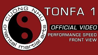 Cuong Nhu Tonfa 1 - Official Kata - Performance Speed - Front View