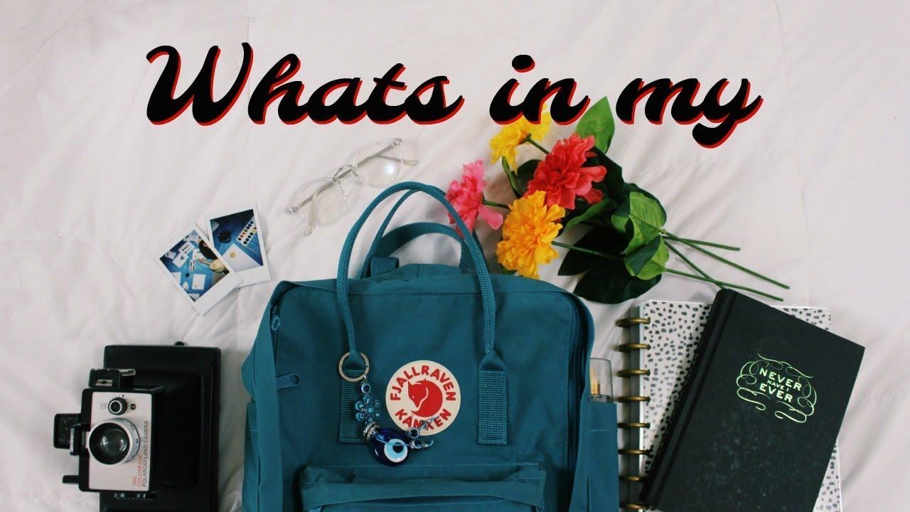 delikatne kolory uważaj na nowy wygląd Whats in my Backpack | Fjallraven Kanken
