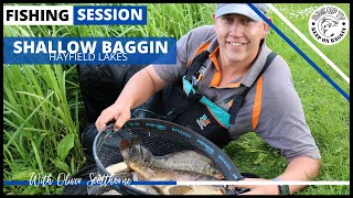 Shallow Fishing for Big Carp at Hayfield Lakes with Oliver Scotthorne | BagUpTV