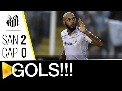 Santos 2 x 0 Atlético- PR | GOLS | Brasileirão (01/10/16)