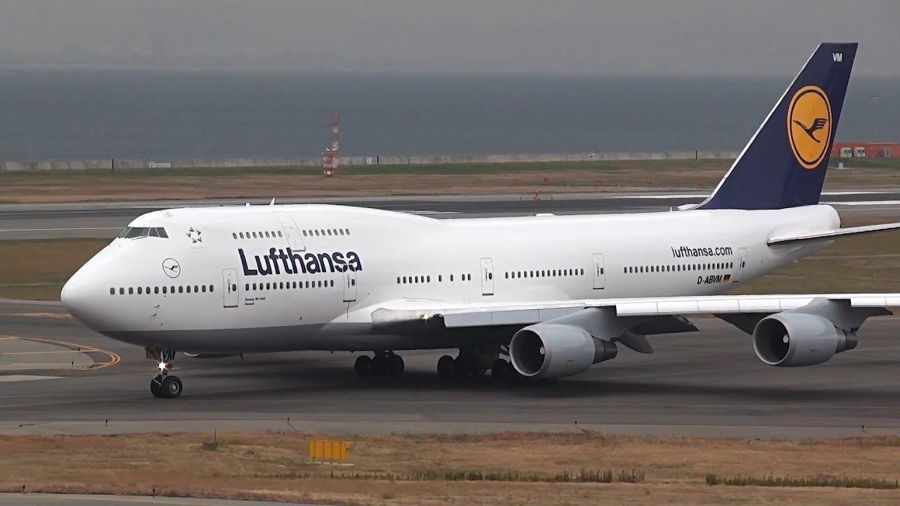 lufthansa boeing 747 400 d abvm takeoff kix rjbb youtube. Black Bedroom Furniture Sets. Home Design Ideas