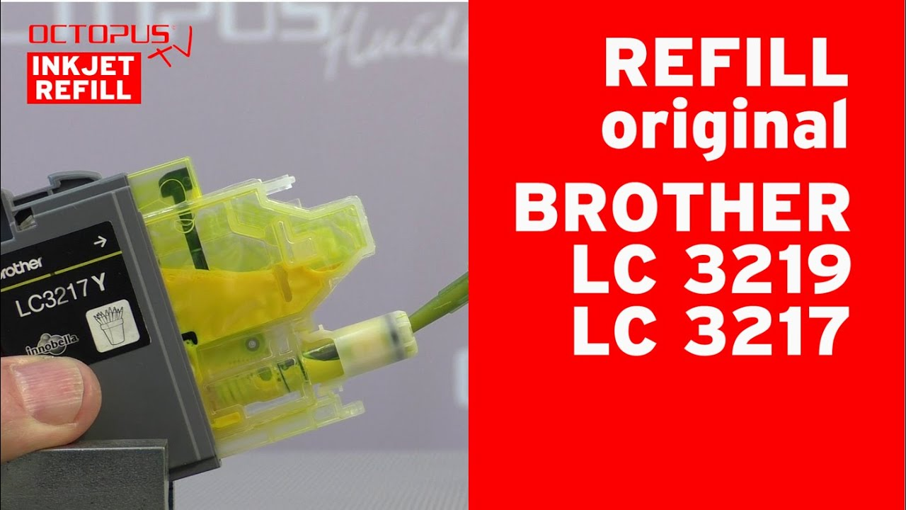 Refill Brother LC-3219 LC-3217 original inkjet cartridges including chip reset