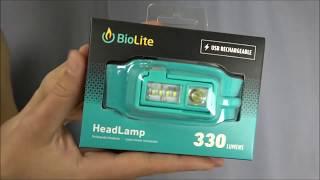 Unboxing BioLite HeadLamp 330