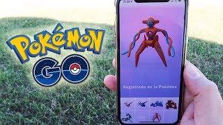 ¡CAPTURO DEOXYS! SOLO entre 2! NUEVO POKÉMON MÍTICO de Pokémon GO!! [Keibron]
