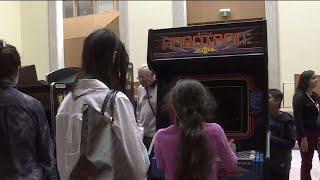 Vintage arcade games at the AGO