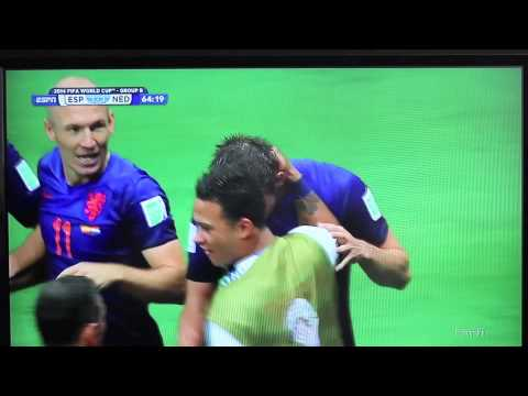 Netherlands 5 - Spain 1(2014 World Cup FIFA Highlights)