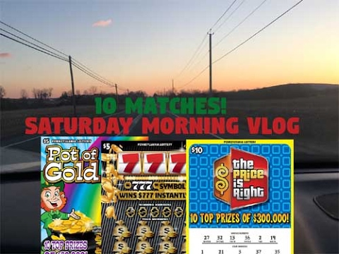 Saturday Morning VLOG - Found 10 Matching Numbers, Wal Mart Fun, and Price Is Right! - PA Lottery