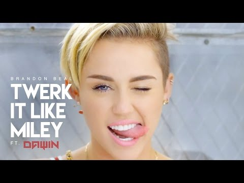 Twerk it like Miley -  Brandon Beal (DAWIN Remix) | Lyrics