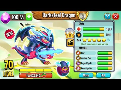 Dragon City: Darksteel Dragon, NEW LEGENDARY - EXCLUSIVE DRAGON! 😱 - 동영상