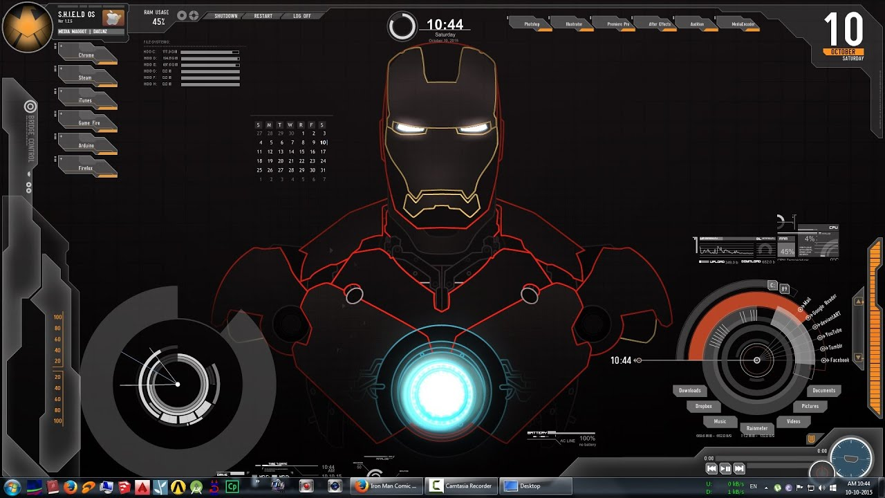JARVIS : IRONMAN live wallpaper | $$007 - YouTube