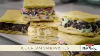 Pepperidge Farm Puff Pastry Ice Cream Sandwiches Recipe