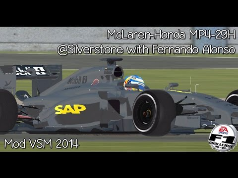 [F1C] McLaren-Honda MP4-29H @ Silverstone with Fernando Alonso (Mod VSM 2014) [HD]