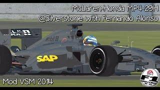 [F1C] McLaren-Honda MP4-29H @ Silverstone with Fernando Alonso (Mod VSM 2014) [HD]