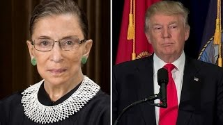ruth bader ginsburg apologizes to donald trump i regret making remarks