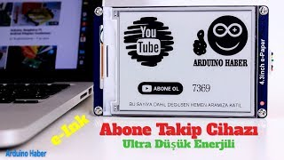 Wemos ESP8266 ile YouTube Abone Takip Göstergesi Projesi (Youtube Abone Sayıcı)