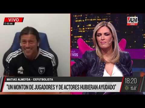 Almeyda en una entrevista con Viviana Canosa en A24