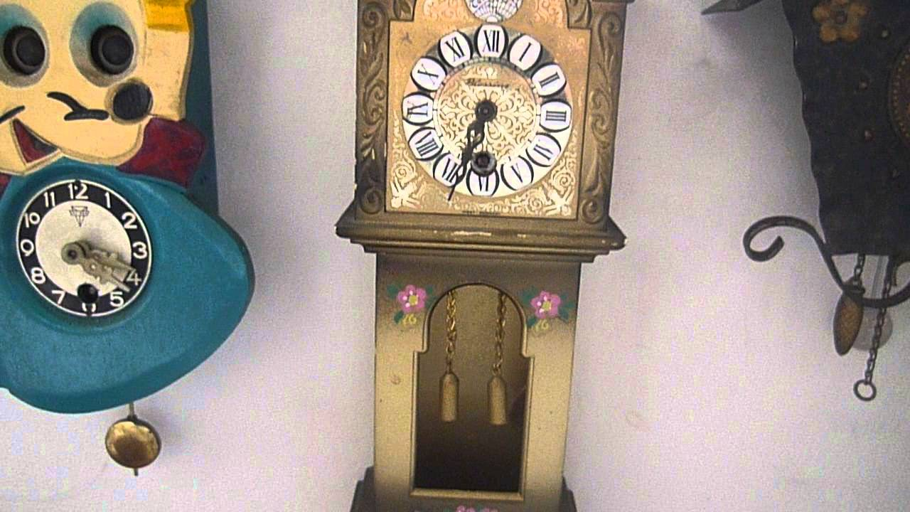 1970s blessing mini grandfather novelty clock youtube 1970s blessing mini grandfather novelty clock amipublicfo Choice Image