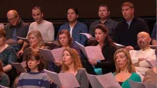 The Royal Opera Chorus rehearse