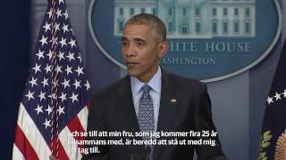 Obamas sista presskonferens