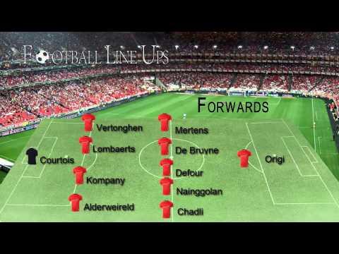 Belgium 6-0 Andorra (Belgium Line Up) Euro 2016 Qualifiers