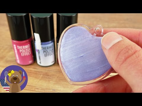 Mood Heart DIY   Thermo Nailpolish   Experimenting with Thermo Color