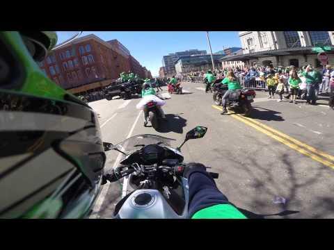 Colorado Sportbike Club 2015 Denver St Patrick's Day Parade Part 1