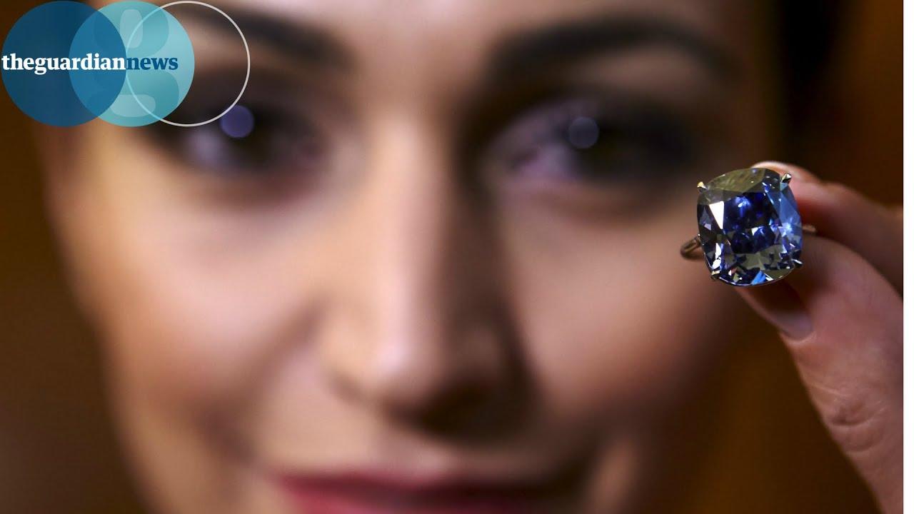 Rare Blue Moon Diamond Fetches Record 48m Youtube