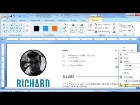 Resume Template How to modify QR Code in Microsoft Word - #6 of 11