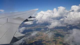 Взлёт самолёта Boeing 747 во Франкфурте.