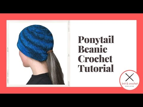Ponytail Beanie Free Pattern Workshop YouTube Best Ponytail Beanie Crochet Pattern