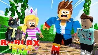 ROBLOX ADVENTURE - PLAYING TEMPLE RUN WITH DENIS!!
