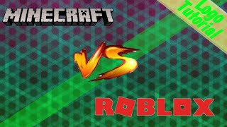 How To Make A Cool (Minecraft Vs. Roblox) Logo Using (Pixellab/Background Eraser)