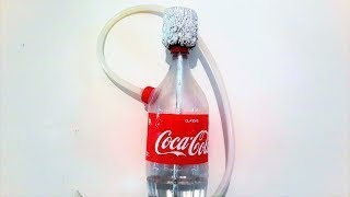 Pretty Girl Shows How to Make Hookah out of Coca Cola Bottle
