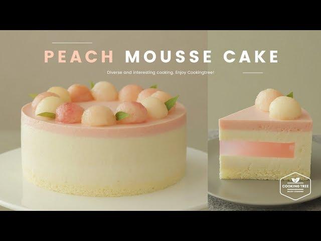 ♥감성자극♥ 복숭아 무스케이크 만들기🍑 : Peach mousse cake Recipe : ピーチムースケーキ   Cooking ASMR