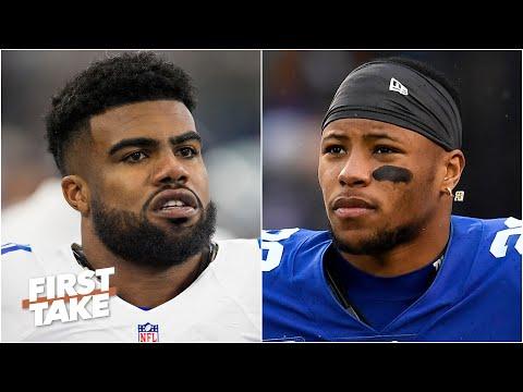 Saquon Barkley vs. Ezekiel Elliott: Who is the better player? | First Take