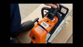 stihl ms880 chainsaw first fire up out of the box warragul