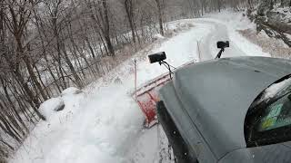 Snowplowing and snowmobiling